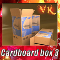 3D Model Photorealistic Cardboard Box High Res 3D Model