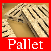 3D Model Photorealistic Wood Pallet High Res 3D Model