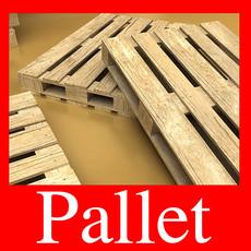 3D Model Photorealistic Wood Pallet High Res 3D Model