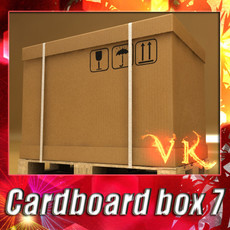 3D Model Photorealistic Cardboard Box & Pallet High Res 3D Model