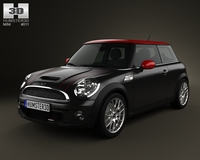 Mini John Cooper Works Hardtop 2011 with HQ Interior 3D Model