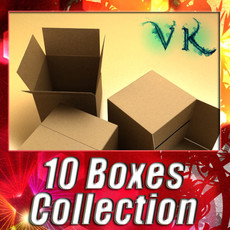 3D Model Cardboard boxes & pallet High res 3D Model