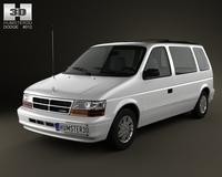 Dodge Caravan 1990 3D Model