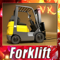 Forklift High Detail 3D Model
