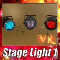 3D Model Realistic Stage light 01 3D Model
