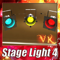 3D Model Spotlight Stage Light 04 3D Model