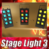 3D Model Moving Head LED Stage Light 03 3D Model