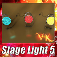 3D Model Spotlight Stage Light 05 3D Model