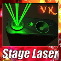 3D Model Laser Stage Light 06 3D Model