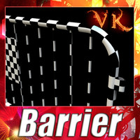 3D Model Barrier Fence High Detail 100 x 100 3D Model
