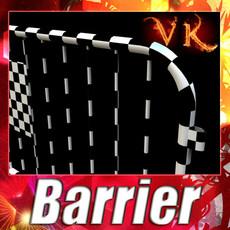 3D Model Barrier Fence High Detail 100 x 100 3D Model