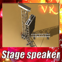 3D Model Stage Speaker Truss High Detail 3D Model