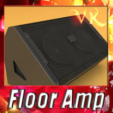 3D Model Stage Amp High Detail 3D Model