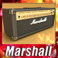 3D Model Marshall Amplifier MG Series High Detail 3D Model
