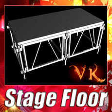 Stage Floor Platform 3D Model