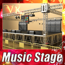 Stage Equipment Mega Pack High Detail 3D Model