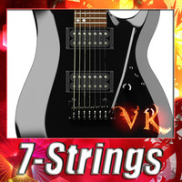 3D Model Electric Guitar 7 Strings High Detail 3D Model