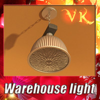 3D Model Industrial Light Fixture 3D Model