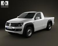 Volkswagen Amarok SingleCab 2010 3D Model