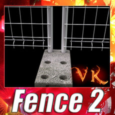 3D Model Fence 02 - High Detailed 3D Model