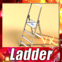 3D Model Step Ladder High Detail 3D Model