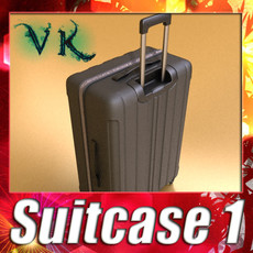 3D Model Rolling Suitcase 01 High Detail 3D Model