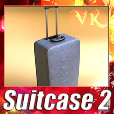 3D Model Rolling Suitcase 02 High Detail 3D Model