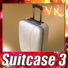 Rolling Suitcase 03 High Detail 3D Model