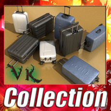 Suitcase Collection High Detail 3D Model