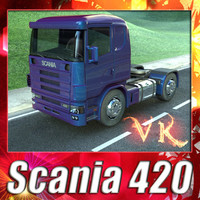 3D Model Truck Scania 420 High Detail 3D Model