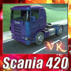 3D Model Truck Scania 420 High Detail 3D Model