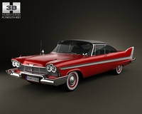 Plymouth Fury Sport coupe 1959-1962 3D Model