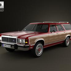 Ford Country Squire 1979-1991 3D Model
