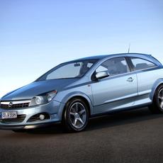 Opel Astra H GTC Vauxhall 3D Model