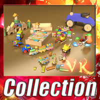 3D Model Toys Collection 10 Items 3D Model