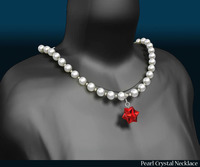 Pearl Crystal Necklace  3D Model