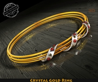 Crystal Gold Ring 3D Model