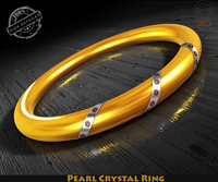 Pearl Crystal Ring 3D Model