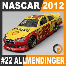 Nascar 2012 Car - A. J. Allmendinger Dodge Charger #22 3D Model