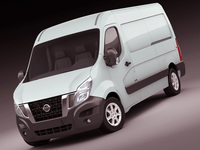 Nissan NV400 van 2011 3D Model