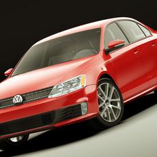 VW Jetta GLI 2012 3D Model