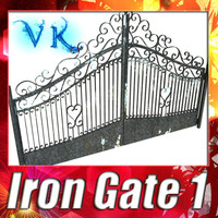 3D Model Wrought Iron Gate 01 3D Model
