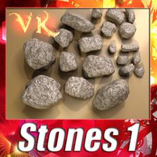 3D Model Stones 01 3D Model