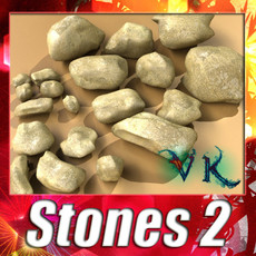 3D Model Stones 02 High resolution textures 3D Model