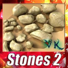 3D Model Stones 02 High resolution textures 3D Model