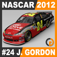 Nascar 2012 Car - Jeff Gordon Chevrolet Impala #24 3D Model