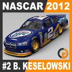 Nascar 2012 Car - Brad Keselowski Dodge Charger #2 3D Model