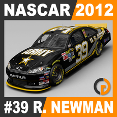 Nascar 2012 Car - Ryan Newman Chevrolet Impala #39 3D Model