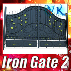3D Model Iron Gate 02 3D Model