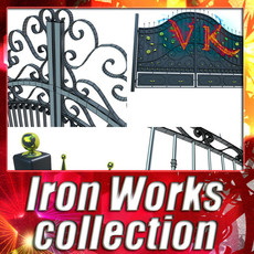 3D Model Iron Gate Collection 3D Model